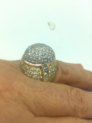 20th century - Gorgeous gold diamonds ring