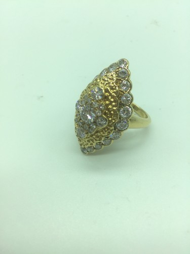 Van CLEEF  - Gold and Diamonds marquise ring - Antique Jewellery Style
