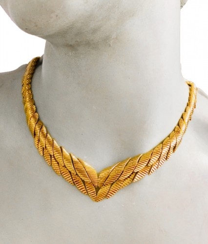 MELLERIO : beautiful gold necklace 1950 's