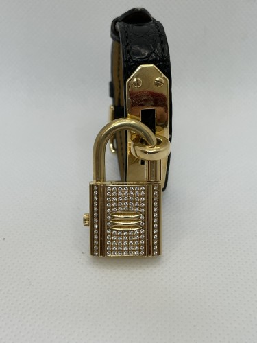 Gold and Diamonds watch by Hermès  - Antique Jewellery Style