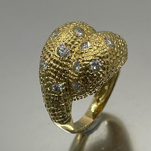 Gold and diamonds ring by - Van Cleef & Arpels - Antique Jewellery Style