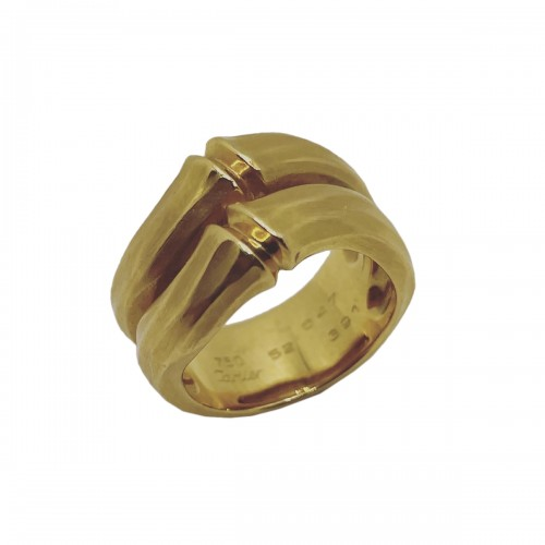 "Gold ring ""bambou ""  by Cartier"