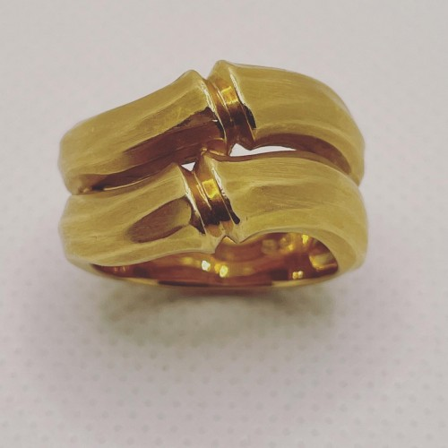 "Gold ring ""bambou ""  by Cartier - Antique Jewellery Style"