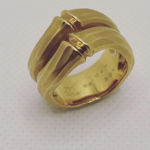 "Gold ring ""bambou ""  by Cartier -"