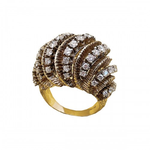 Gold and diamonds ring circa 1960