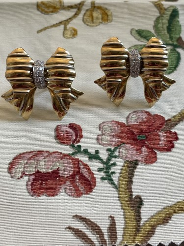 Gold and Diamonds earrings by REPOSSI - Antique Jewellery Style