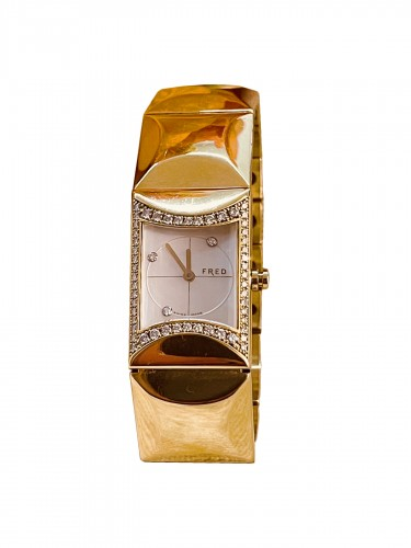 Gold and Diamonds watch by FRED PARIS