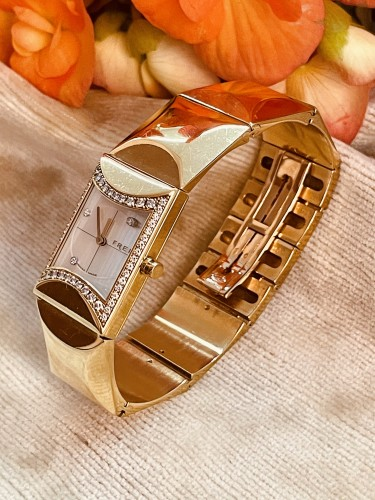 Gold and Diamonds watch by FRED PARIS  - Antique Jewellery Style
