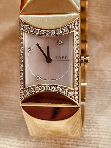 Antique Jewellery  - Gold and Diamonds watch by FRED PARIS