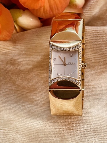 Gold and Diamonds watch by FRED PARIS  -