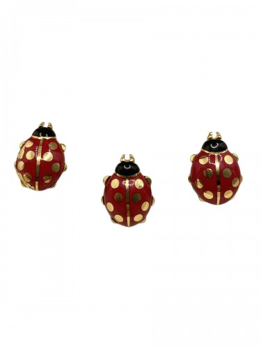 CARTIER - Enameled cufflinks and pins by, ladybirds