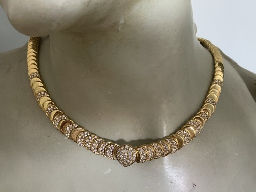 gold and diamonds necklace - Antique Jewellery Style