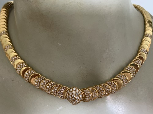 Antique Jewellery  - gold and diamonds necklace