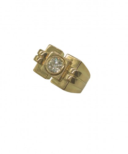 Gold and Diamond Ring by VAN CLEEF & ARPELS