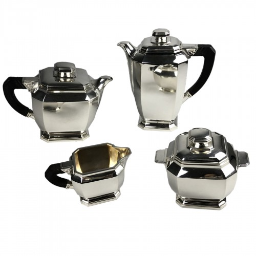 Hénin à Paris - Art deco silver tea and coffee service