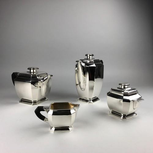 Hénin à Paris - Art deco silver tea and coffee service - Antique Silver Style Art Déco