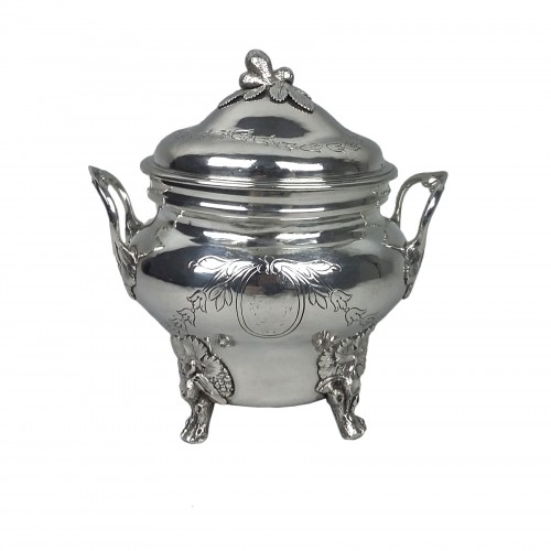 Sugar bowl in silver by Joseph Teissere, Marseille 1783