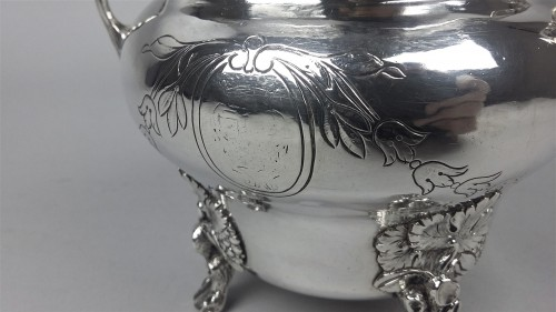 Antique Silver  - Sugar bowl in silver by Joseph Teissere, Marseille 1783