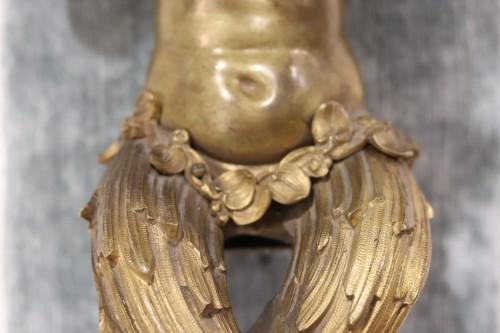 <= 16th century - Two  Gilt-bronze Putti, of Louis XIV period