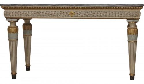 Lacquered console, Italy circa 1780