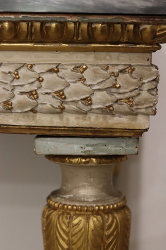 Lacquered console, Italy circa 1780 - Furniture Style Louis XVI