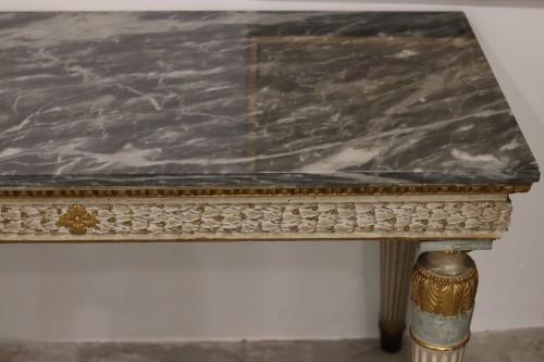 Louis XVI - Lacquered console, Italy circa 1780