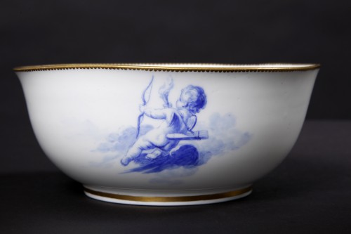 18th century - Milk jug and its bowl, Vincennes 1754