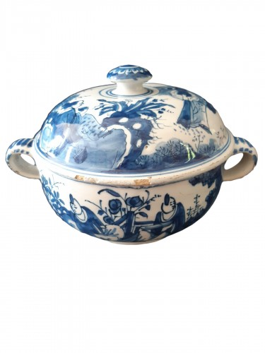 Spiced wine bowl, Delft, circa 1700