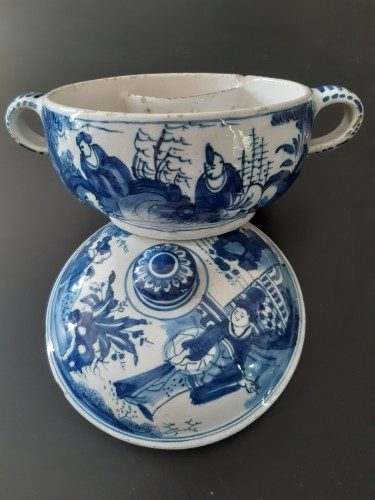 Spiced wine bowl, Delft, circa 1700 -