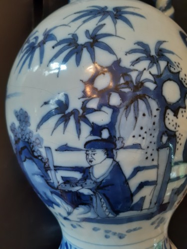 Porcelain & Faience  - Great blue and white ewer, Delft, 1690