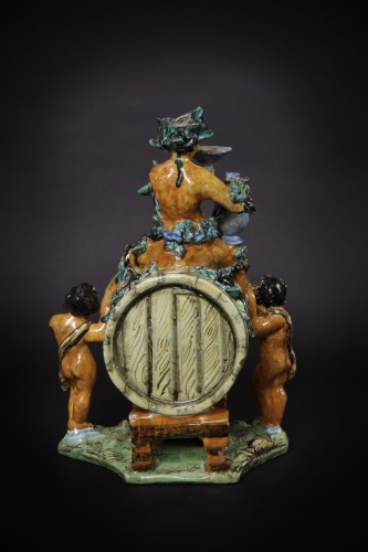 """Fountain """"Bacchus"""", Urbino late 16th early 17th century - Porcelain & Faience Style"""