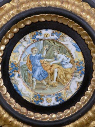 17th century Taglieré Castelli plate - Porcelain & Faience Style Louis XIV