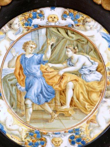 Porcelain & Faience  - 17th century Taglieré Castelli plate