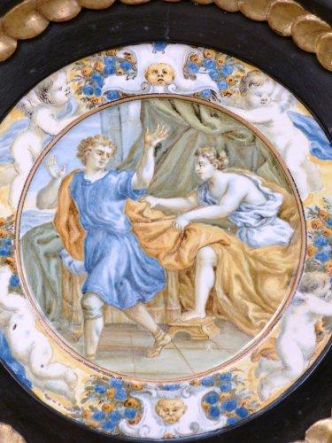 17th century Taglieré Castelli plate -