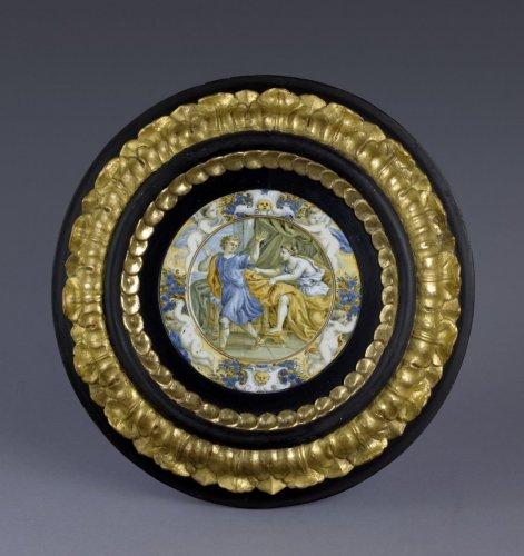 17th century Taglieré Castelli plate - Louis XIV