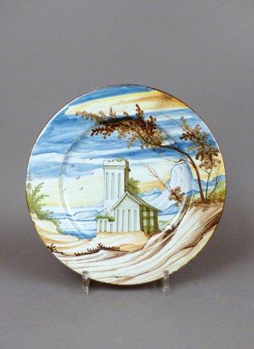 18th century Pavia faience platter