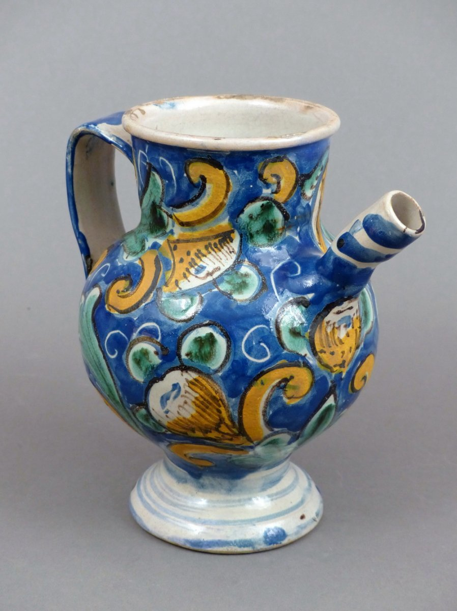 17th Century Chevrette In Majolica Of Caltagirone Ref 52864