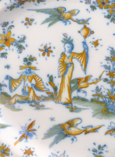 18th century oval faience platter from Lyon -