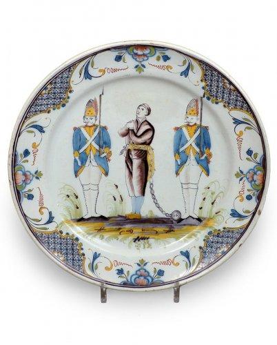 A rare 18th century Desvres platter