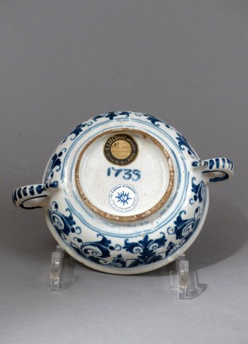 "Porcelain & Faience  - Faience of Paris ""bol à capucin"" dated 1733"