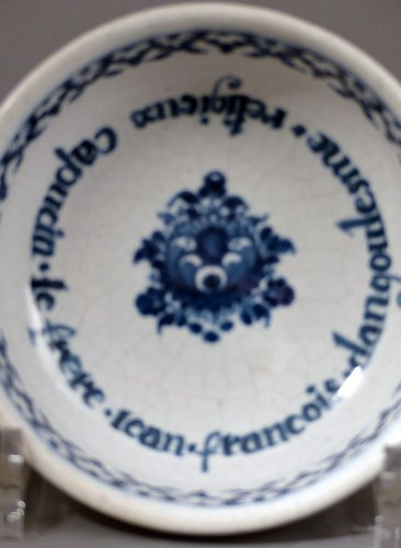 "Faience of Paris ""bol à capucin"" dated 1733 -"