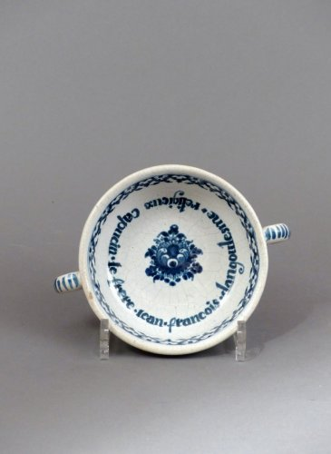 "18th century - Faience of Paris ""bol à capucin"" dated 1733"