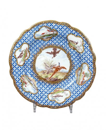 18th century Chantilly Soft-paste Plate