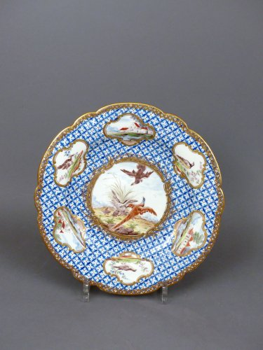18th century Chantilly Soft-paste Plate -