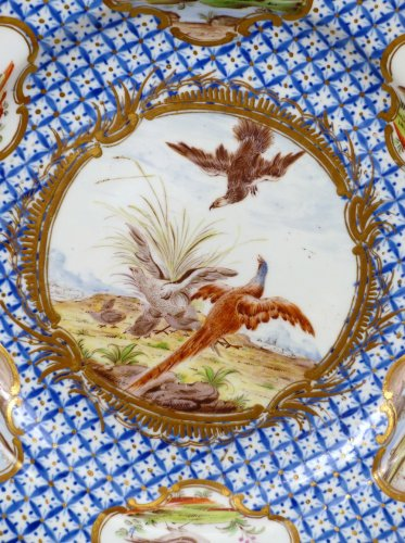 - 18th century Chantilly Soft-paste Plate