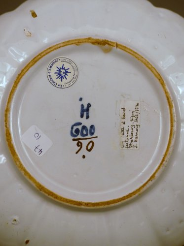 A 18th century compotier in faience of Strasbourg -