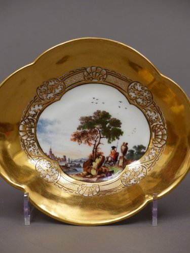 Pair of Meissen cups and saucers circa 1727 - 1728 - Porcelain & Faience Style French Regence