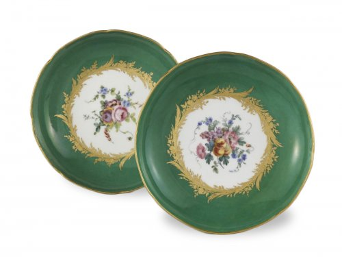 Pair of 18th century Sèvres compotiers