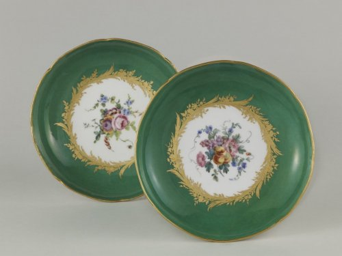Pair of 18th century Sèvres compotiers - Porcelain & Faience Style Louis XVI