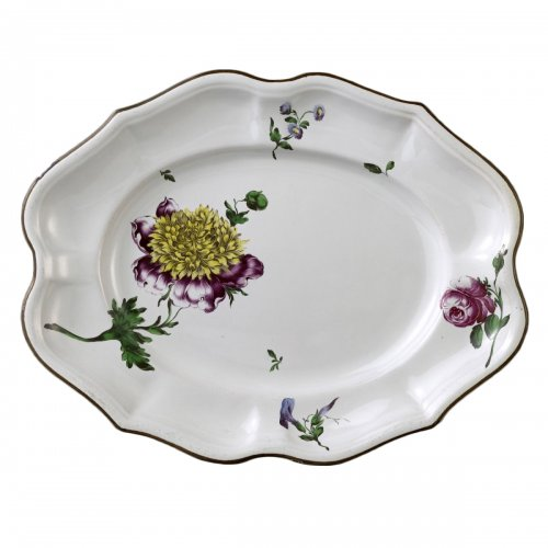 French faience of Strasbourg -  Platter by Paul Hannong, circa 1752 - 1760